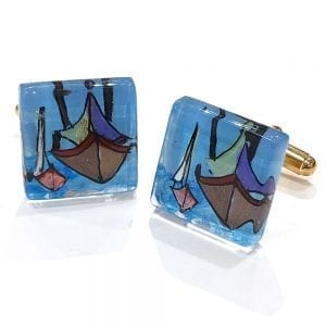 Sail Boat Cuff Links by Sarita Kamat